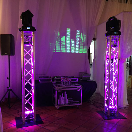2 Aluminum Truss with Moving Light Heads